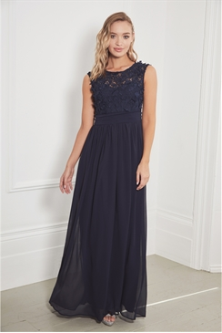 Sistaglam Jamiliene navy embellished maxi dress