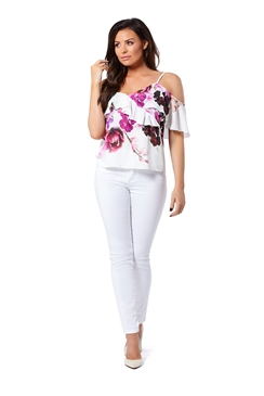 Jessica Wright Bree White High Waisted Skinny Jeans