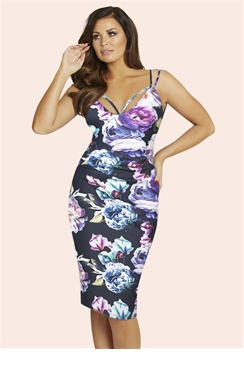 Jessica Wright Emelli Multi Colour Floral Dress