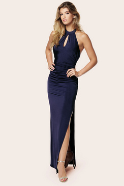 SISTAGLAM ZENA HALTER MAXI DRESS