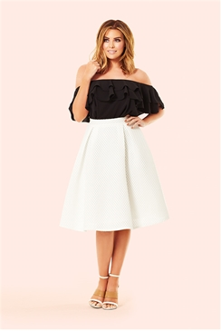 Jessica Wright Jamie Black Bardot Frill Top
