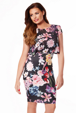 JESSICA WRIGHT KYLIE BLACK CHIFFON DRESS