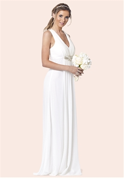 Sistaglam Tellisa White Maxi Dress