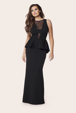 Jessica Wright Noella Black Peplum Dress