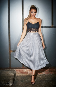 Jess Wright Kiko High Waist Pleated Skirt