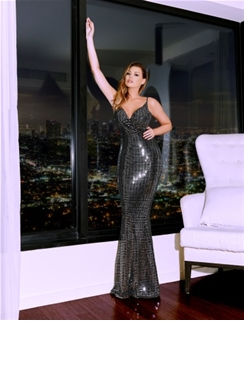 Jessica Wright Clarity Sequin Maxi Dress