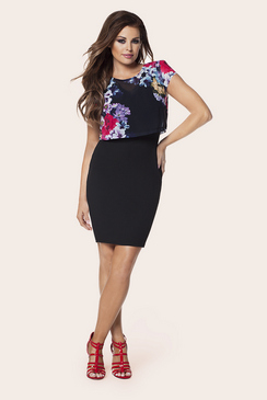 JESSICA WRIGHT KIMMIE BLACK CHIFFON DRESS