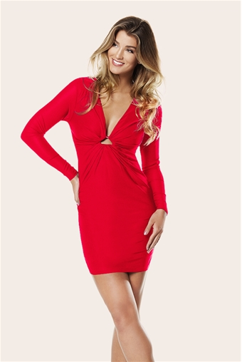PETITE RED MANDY DRESS- currently unavailable