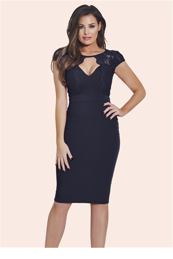 2538f96a58d1 ... jessica wright broady navy lace bodycon dress ...