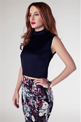 Rosie Fortescue Nice Satin Cropped Blouse Currently