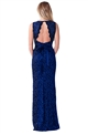 Sistaglam Aston Navy Lace Sparkle Maxi Dress