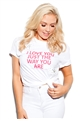 Sistaglam Marcel 'I Love You Just The Way You Are' White Stud Transfer T-shirt