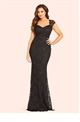 Jessica Wright Analisa navy sequin lace maxi dress