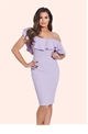 jessica wright lilah lilac bodycon dress