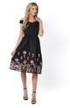 Sistaglam Lilanna Black Floral Prom Dress
