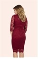 Jessica Wright Delaney Berry Lace Keyhole Dress