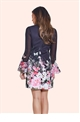 JESSICA WRIGHT MULTI FLORAL SHIFT DRESS.
