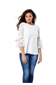 Jessica Wright White Luella Lace Sleeve Top