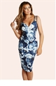 Jessica Wright Elodie Floral Print Pleated Midi Dress