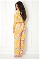 Jessica Wright Jules mustard floral print floaty trousers