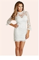 Jessica Wright Juliette Lace Midi Dress