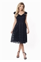 Sistaglam Jadey Black Lace Bardot Prom Dress