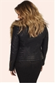 Jessica Wright Aliyah Black Faux Leather Jacket