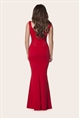 jess wright ruby red flared maxi dress from sistaglam boutique uk