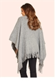 Jessica Wright Samia Grey Soft Fabric Poncho