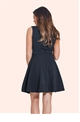 Jessica Wright Gena Black and Nude Lace Skater Dress