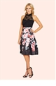 Sistaglam Fabia Lace Halterneck 2 in 1 Printed Prom Dress
