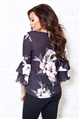 Jessica Wright Karmen Multicolour Floral Print Bell Sleeve Blouse