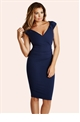 Jessica Wright Cassidy Navy Midi Bodycon Dress