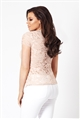 Jessica Wright Estella nude lace high neck top.
