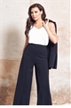 Jessica Wright Tyra black flared high waist trousers