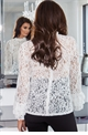 Jessica Wright Talita Cream Lace Top With Frilled Neckline And Sleeves