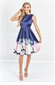 Sistaglam Lina blue Floral Prom Dress