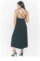 Jessica Wright Shelly black cross back cullotte jumpsuit