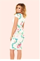 Jessica Wright Elsa Floral Square Neck Ruched Bodycon Dress