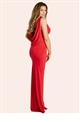 Jessica Wright Audrina Red Maxi Dress