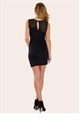 Sistaglam Angela Black Mini Dress