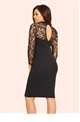JESS WRIGHT CLANCY BLACK LACE SWEETHEART BODYCON DRESS