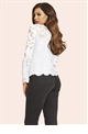 Jessica Wright Essie White Lace Sweetheart Neckline Top