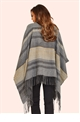Jessica Wright Gee Striped Turtle Neck Poncho