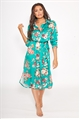 Sista Glam Loves Jessica Wright Lissie multi satin floral print shirt dress with tie