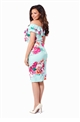 Jessica Wright Summer floral mint bodycon dress