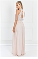Sistaglam Selena Blush Chiffon And Sequin Maxi Dress