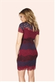 Jessica Wright Gabby High Neck Paneled All Over Lace Dress