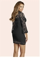 Jessica Wright Julie Black Lace High Neck Dress