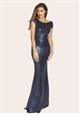JESSICA WRIGHT FRAN NAVY BLUE MAXI DRESS